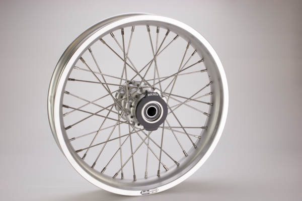 3.0 x 19 Clear Anodized Sun Rim Complete Rear Wheel